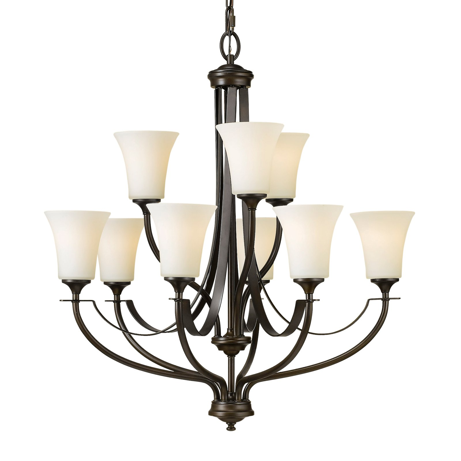 Feiss Barrington Chandelier 29W in. Oil Rubbed Bronze by Murray Feiss