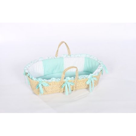 Baby Doll Bedding Gingham Moses Basket, Mint - image 1 of 1