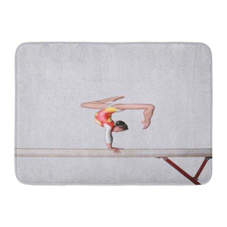 GODPOK Girl Gymnast Balance Beam Asian Dance Teen Youth Rug Doormat Bath Mat 23.6x15.7 (Wired Dance Mat)
