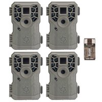 Stealth Cam PX14X P 10MP Digital Scouting Trail Game Camera (4-Pack) with Reader