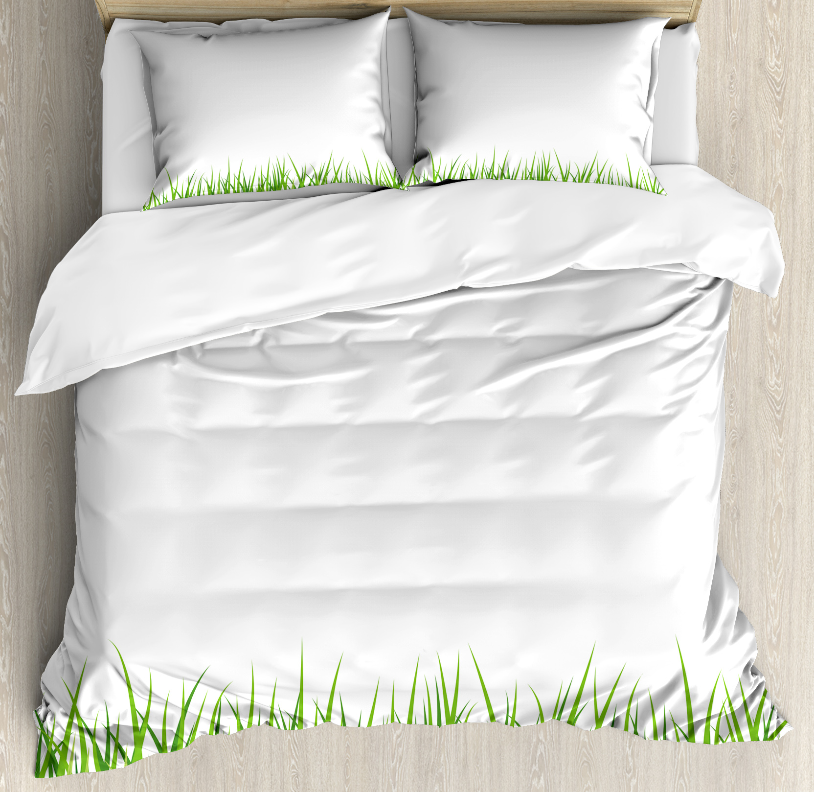 Green Duvet Cover Set Fresh Gr Lawn Horizontal Pattern Nature Outdoors Meadow Lush Gardening Theme Decorative Bedding With Pillow Shams