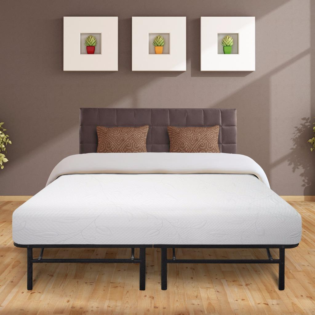 "Best Price Mattress 8"" Air Flow Memory Foam Mattress & 14"" Premium Metal Bed Frame"