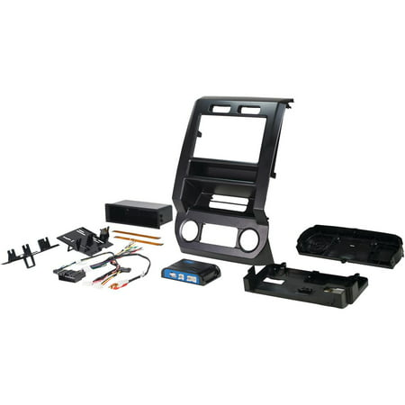 (PAC RPK4-FD2201 Complete Radio Replacement Kit with Integrated Climate Controls for select Ford Vehicles with 4.2
