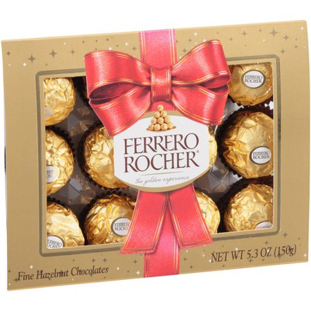 Ferrero Rocher Christmas Chocolates, 0.44 Oz., 12 Count