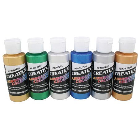Createx Airbrush Pearlescent 6-Color (Createx Airbrush)