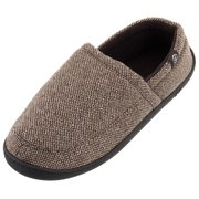 Isotoner Men's Brown Tweed Slipper