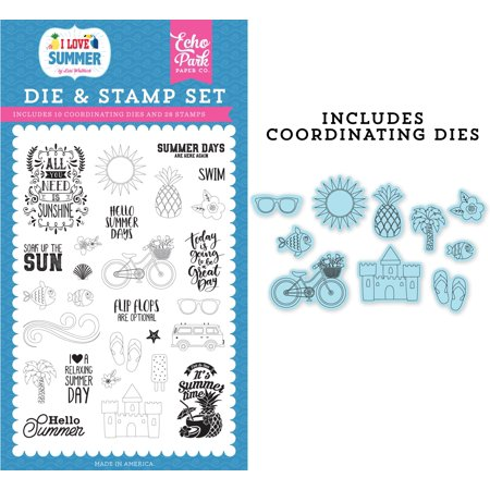 Echo Park Die & Stamp Combo Set-It's Summer Time