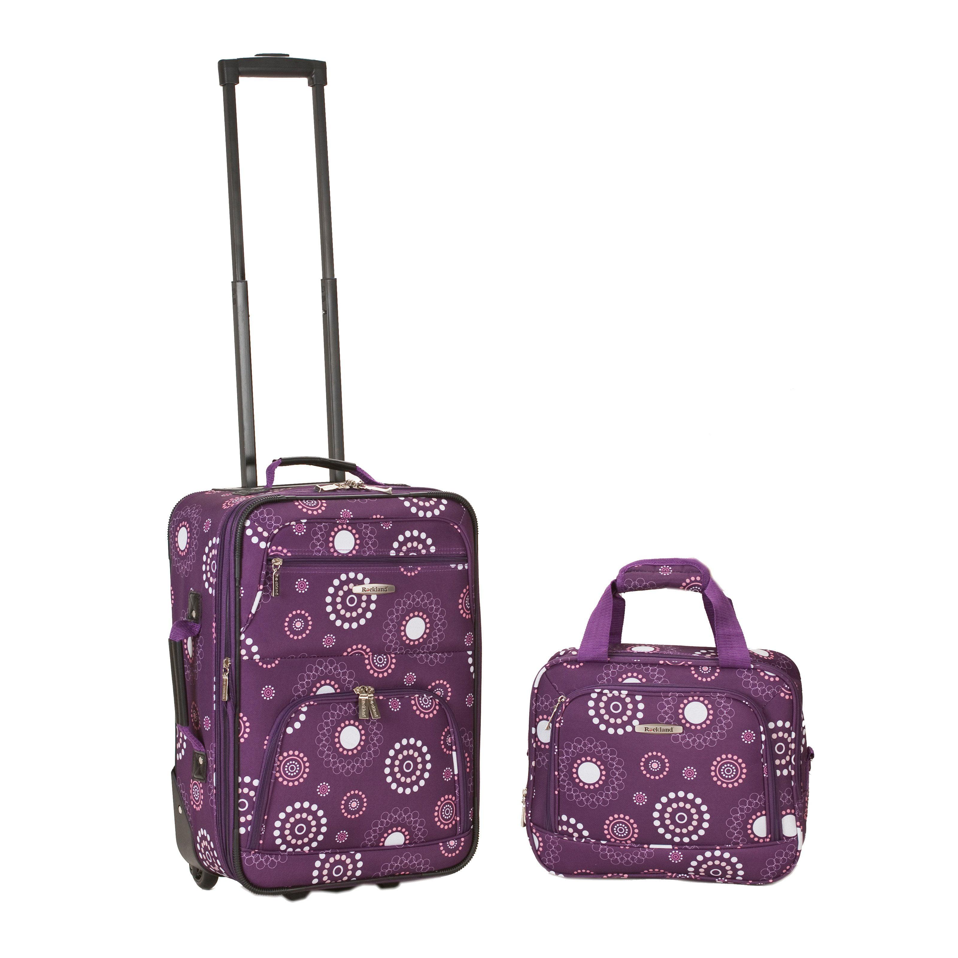 Rockland Luggage 2 Piece Expandable Rolling Luggage Set