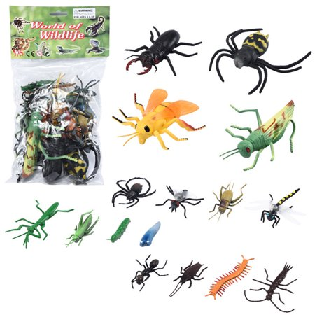 16Pcs Different Shape Simulate Insect Animal Decorative Toy Kids Educational Props - image 1 de 5