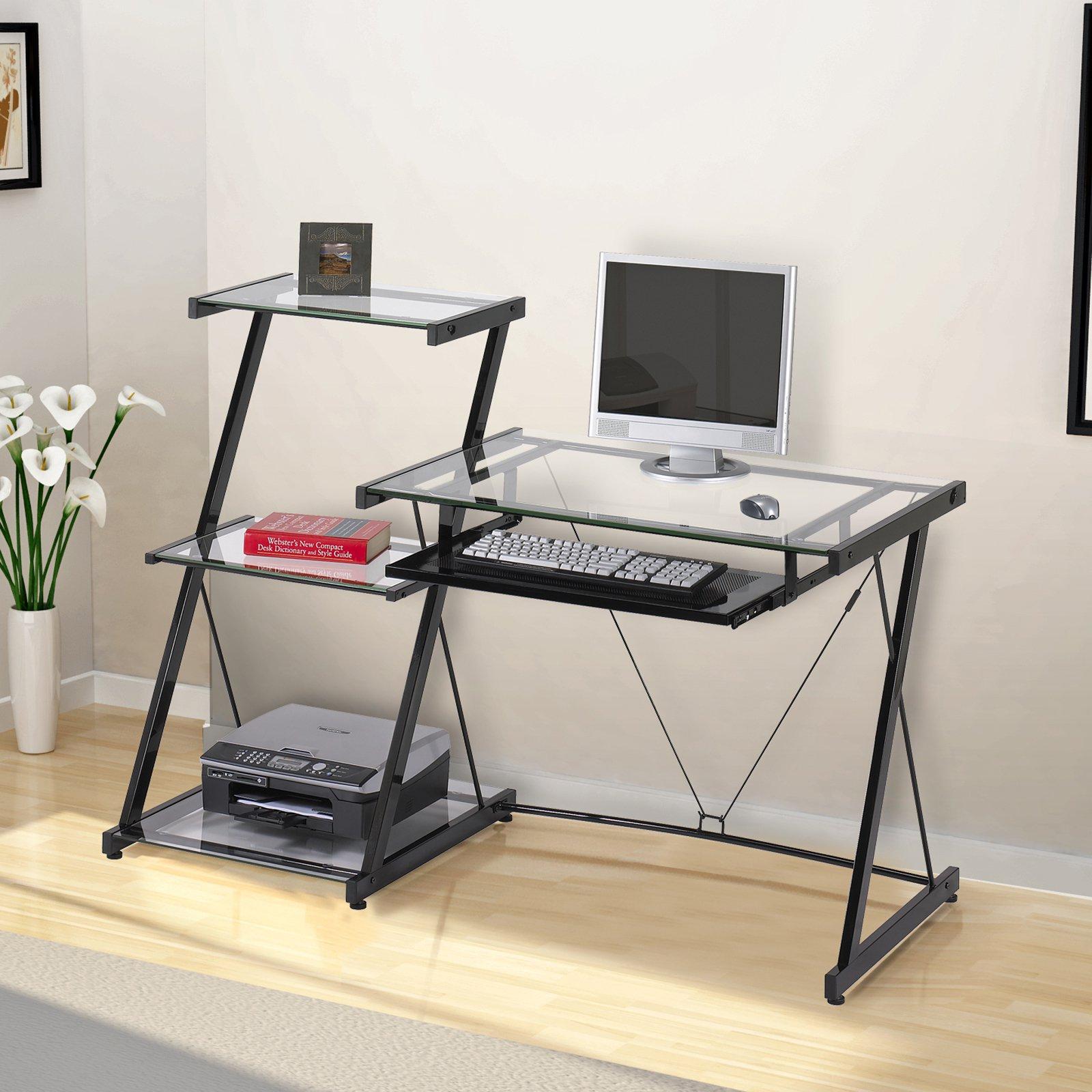 Z-Line Nero Desk and Bookcase - Black