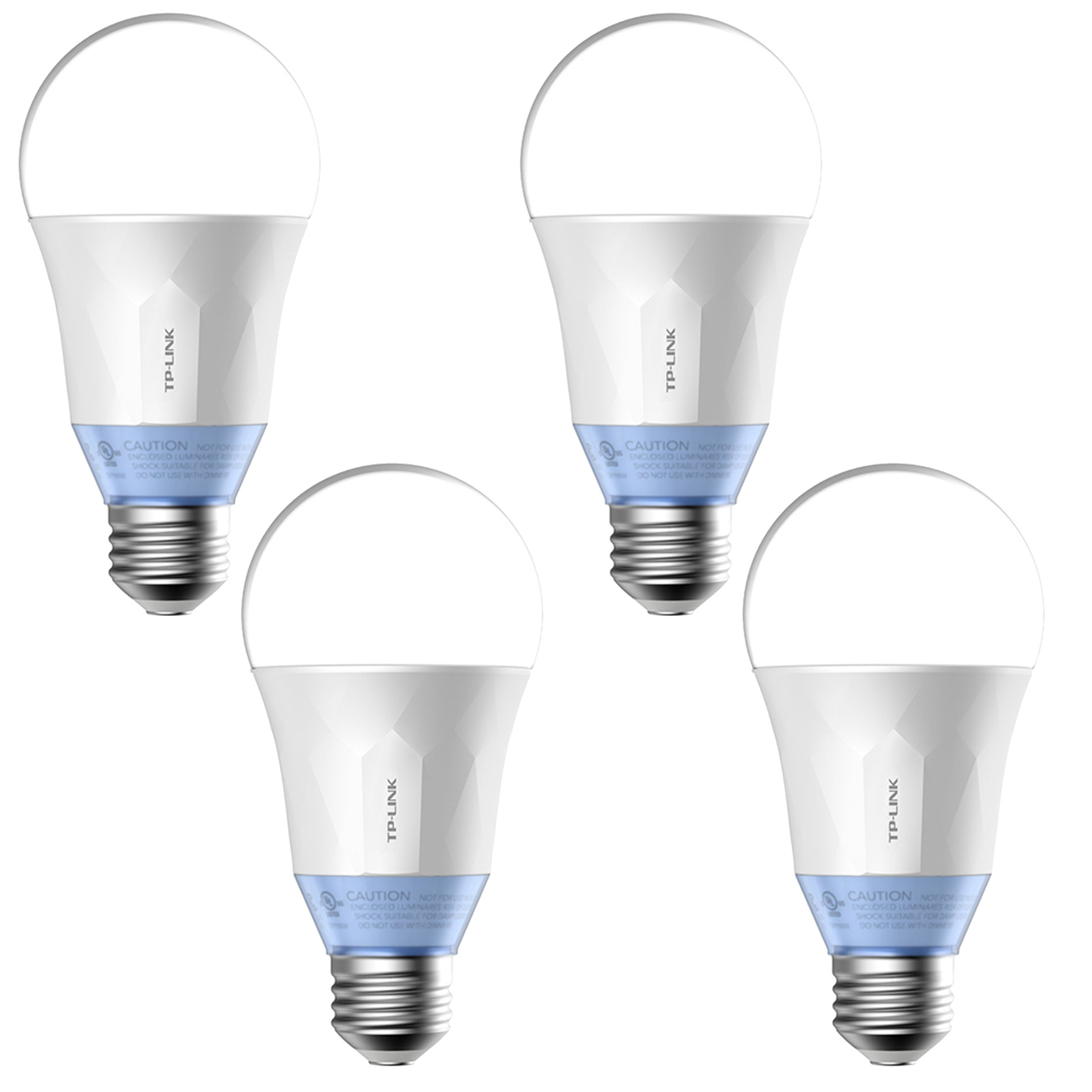 TP-Link Smart WiFi LED 11W Dimmable White Bulb with Voice App Control (4 Pack)