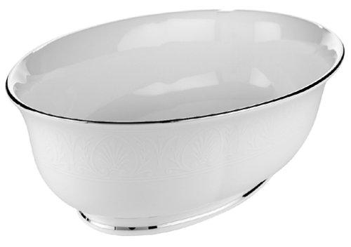 Lenox Hannah Platinum Bone China Large Open Vegetable Bowl by Lenox