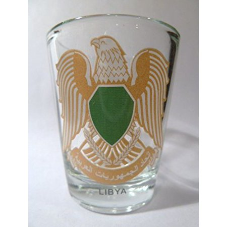 Libya Coat Of Arms Shot Glass