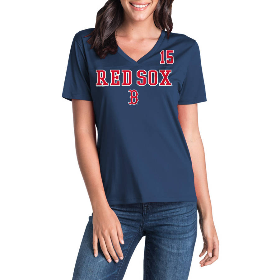 MLB Boston Red Sox Women's Dustin Pedroia Short Sleeve Player Tee