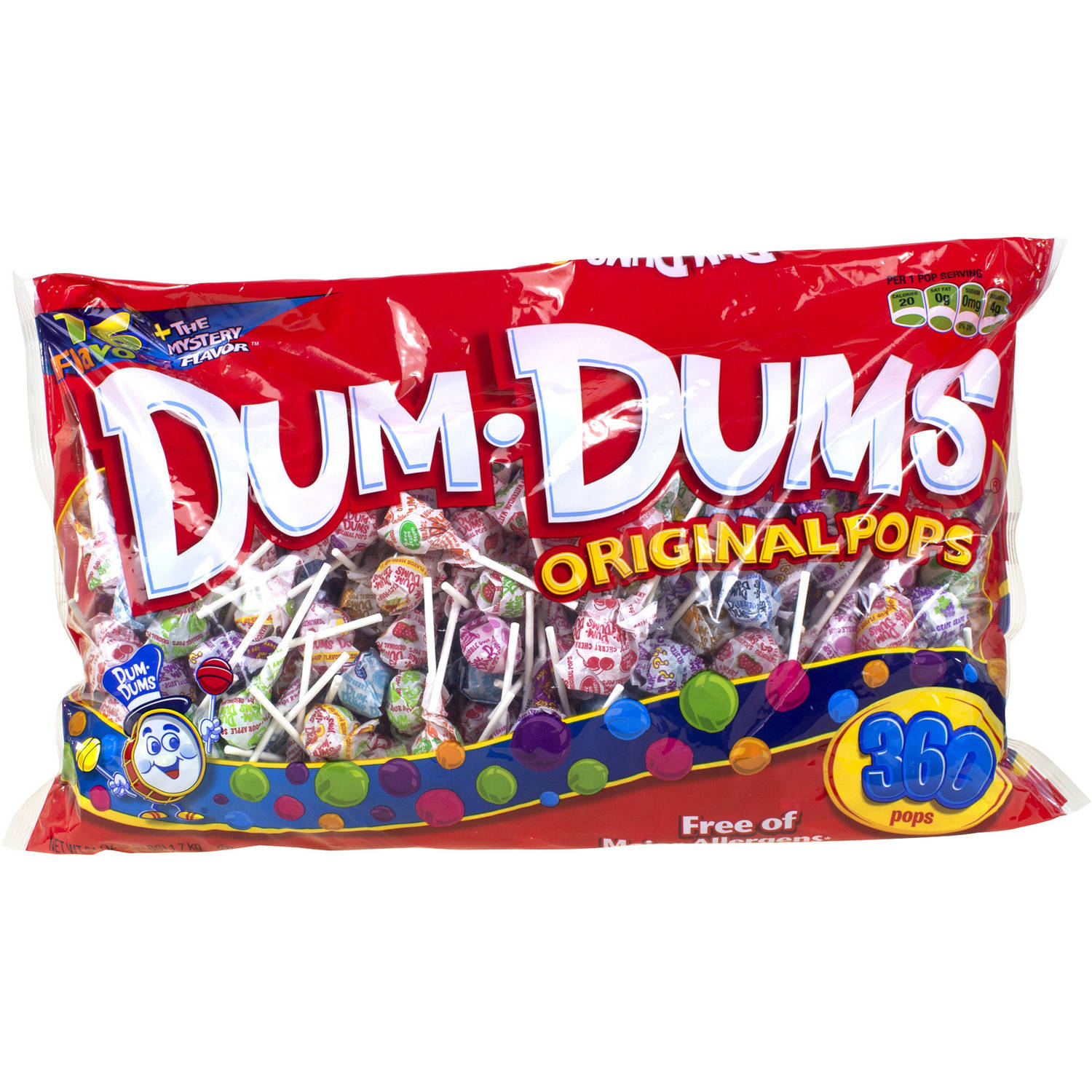 Dum Dums Original Pops Lollipops, 360 count, 3.81 lbs by Spangler Candy Company