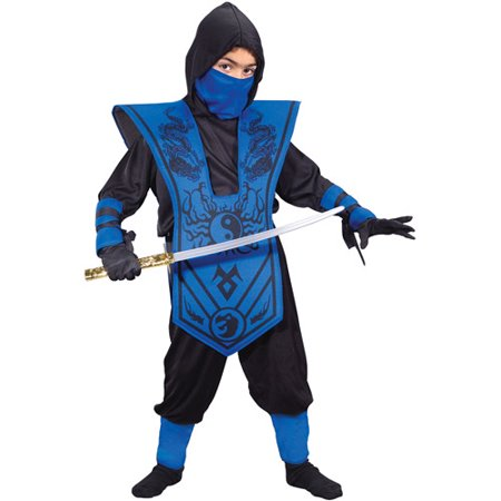 Blue Ninja Child Halloween Costume](Ninja Costume Makeup)