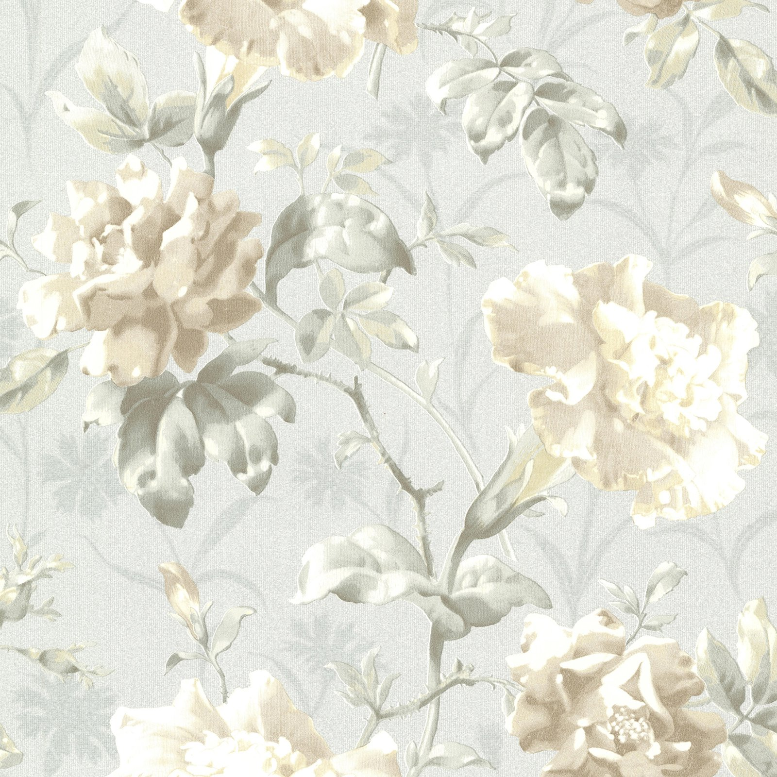 Beacon House Juliana Light Blue Vintage Floral Wallpaper Walmart
