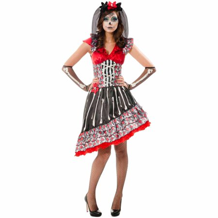 Day of the Dead Adult Dress Up / Role Play Costume ...