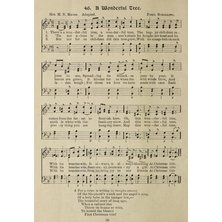A Wonderful Tree Gems of Christmas Song 1910 Canvas Art -  (18 x 24) ()