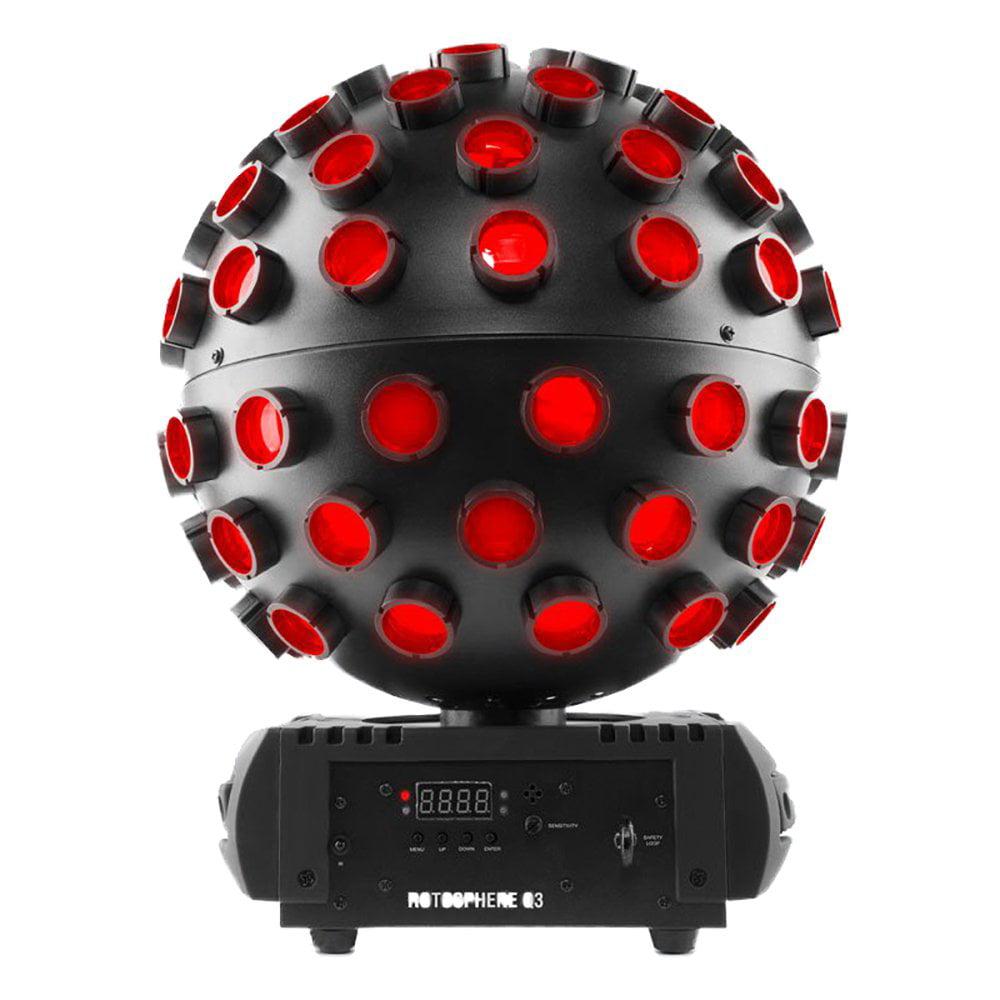 Chauvet DJ Rotosphere Q3 Rotating Mirror Ball RGBW LED Light Effect Simulator by Chauvet Dj