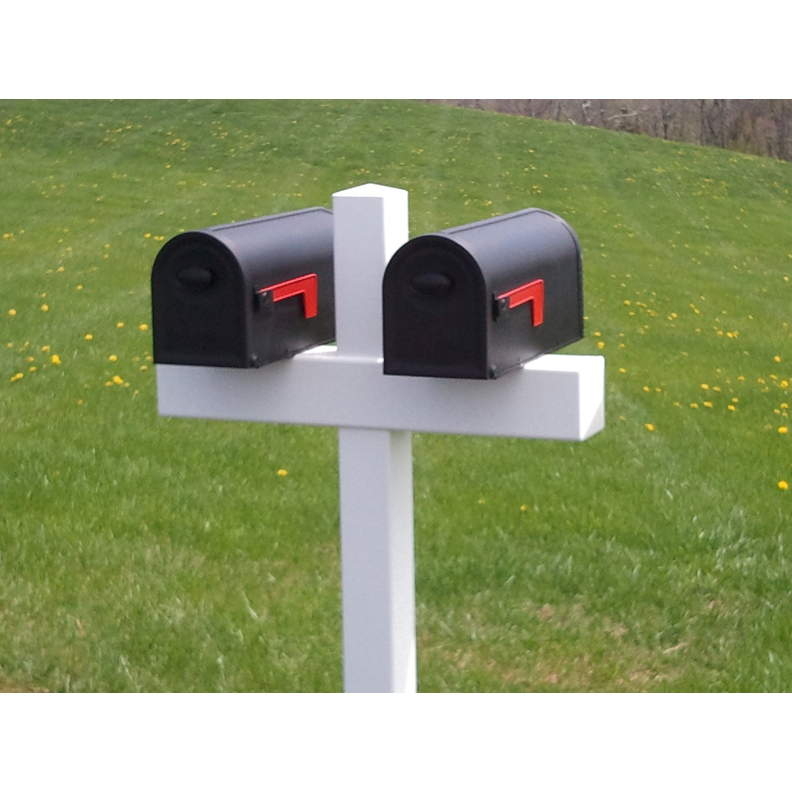 Handy Post Double 54-in x 32-in White Vinyl Mailbox Post Sleeve by Cook Products