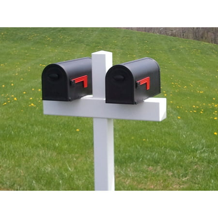 Handy Post Double 54-in x 31-in White Vinyl Mailbox Post Sleeve ()