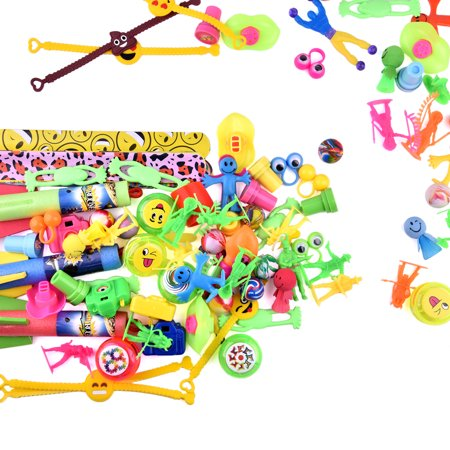 100PCS Carnival Toys for Kids Birthday Party Favors Prizes Box Toy Assortment for Classroom Pinata Toy F-170 - 90s Slap Bracelets