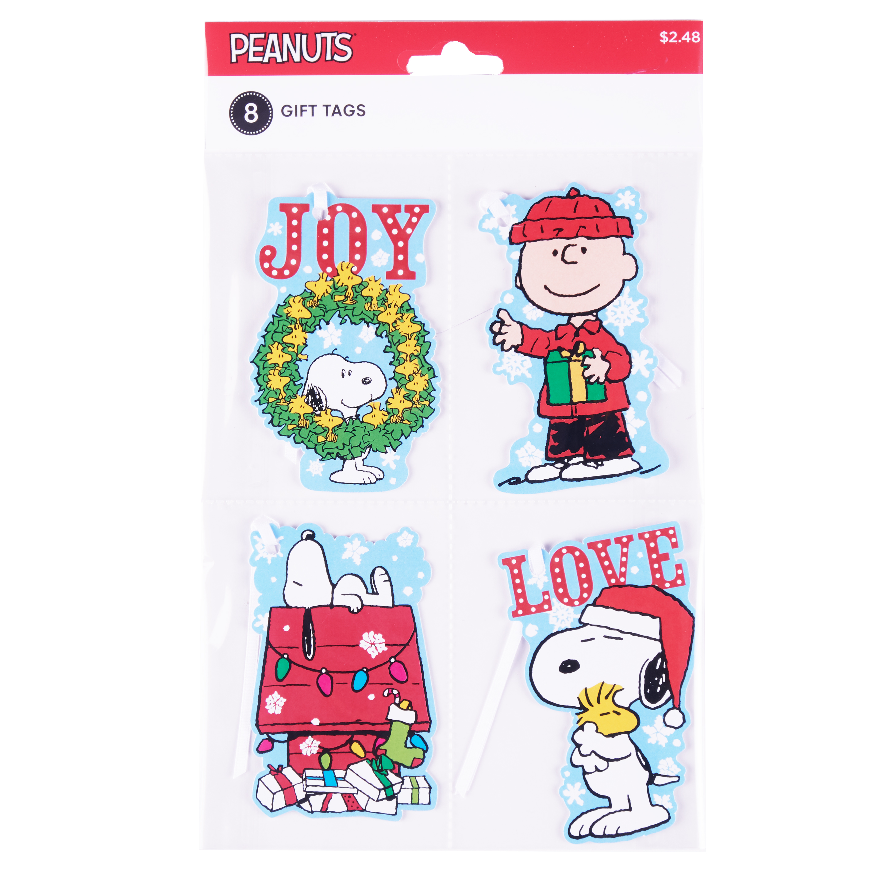 Holiday Time Peanuts Gift Tags, 8 Count