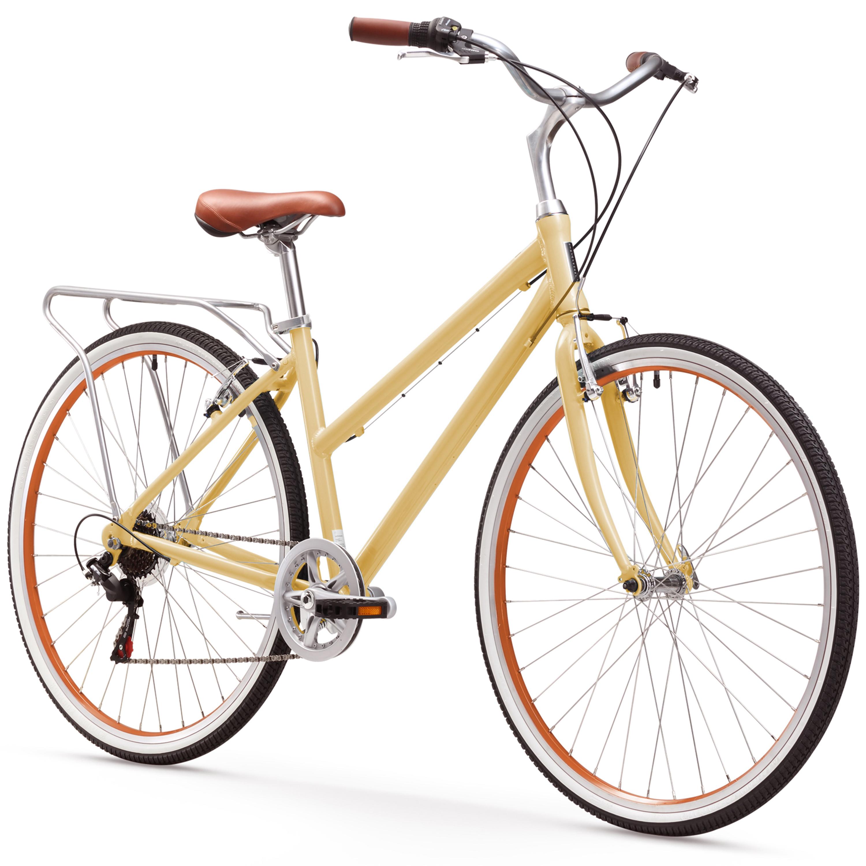 sixthreezero Explore Your Range Women's 7-Speed Hybrid Commuter Bicycle, Cream