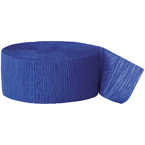 81' Crepe Paper Royal Blue Streamers