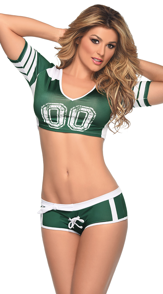 green and white fantasy football costume green and white football costume walmartcom - Halloween Costume Football