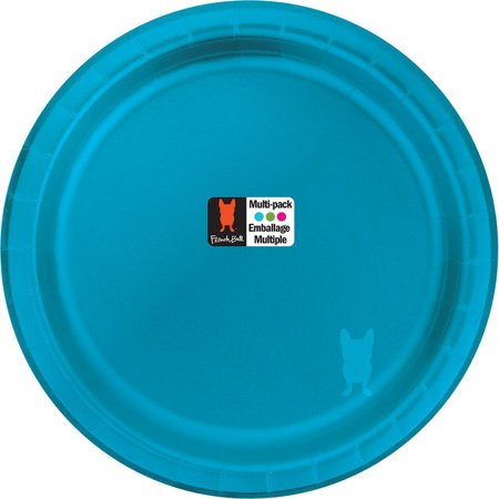"""French Bull Generals 7"""" Round Foil Snack Plate, 10 ct"""
