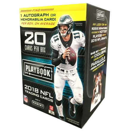 2018 PANINI PLAYBOOK FOOTBALL VALUE BOX- 20 CARDS + 1 AUTOGRAPH OR MEMORABILIA