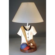 Judith Edwards Designs Baseball Jersey Hat and Glove 21'' Table Lamp