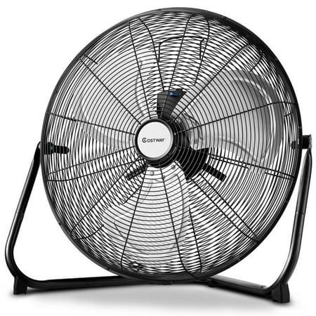 Costway 20'' High Velocity Fan Commercial Industrial Grade 3-Speed Floor Fan 360 (97mm Fans)