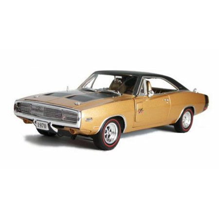1970 Dodge Charger R/T, Gold - Phoenix 18690 - 1/24 Scale Diecast Model Toy Car