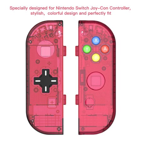 D Pad version Replacement switch housing Case for Nintendo Switch Joy-Con shell game console case (Only Joy con shell Red)