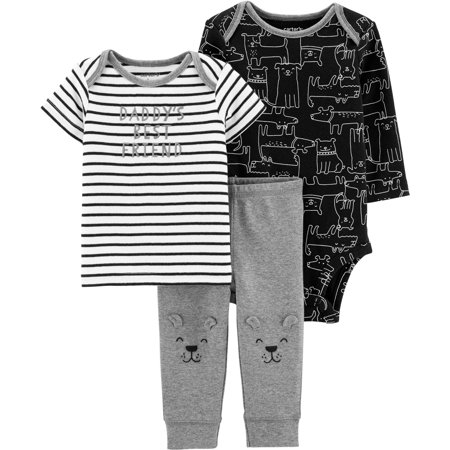 Carters Baby Boys 3-pc. Daddy's Best Friend Dog Clothing Set 16W (Sleeping Dogs Best Outfit)