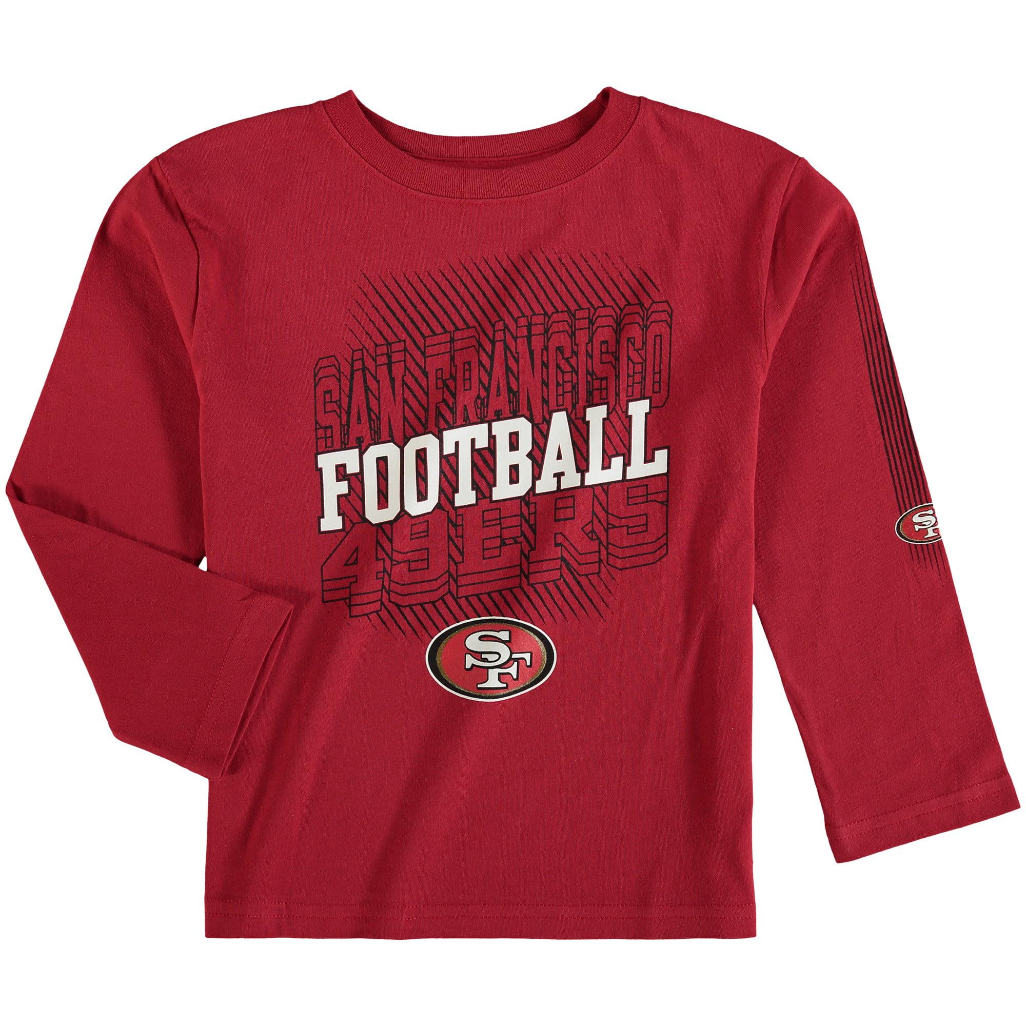 San Francisco 49ers Preschool Frequency Long Sleeve T-Shirt - Scarlet