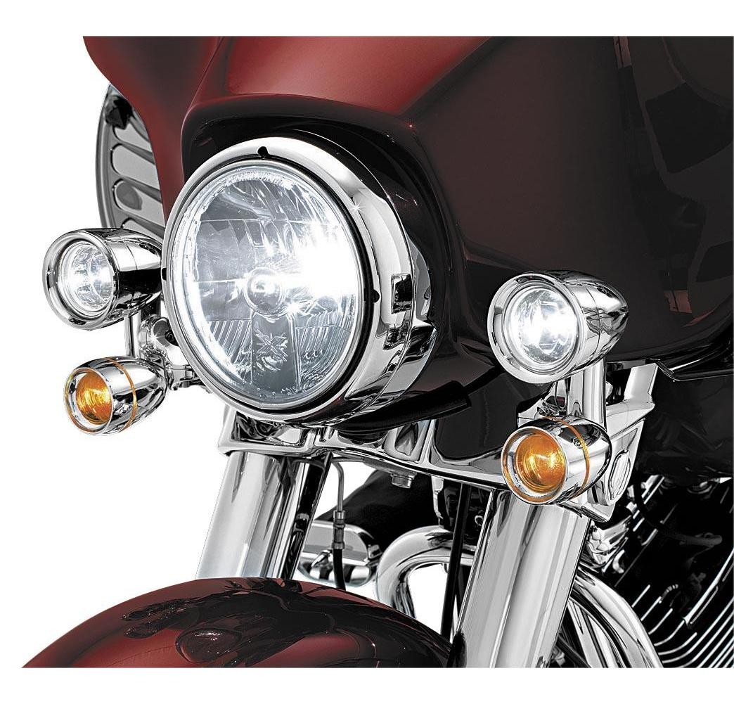 Fairing Mounted Driving Lights with Turn Signals For Harley Road King FLHT Parts