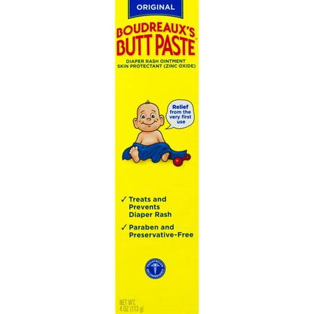 Boudreauxs Butt Paste Diaper Rash Ointment   Original   Paraben And Preservative Free   4 Oz
