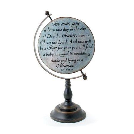 Burton & Burton Decor Scripture Globe Metal