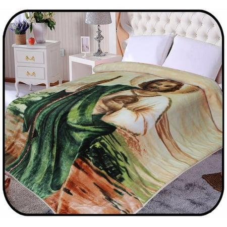 Jcp Hometex Inc  Hiyoko Jesus Religious Mink Blanket