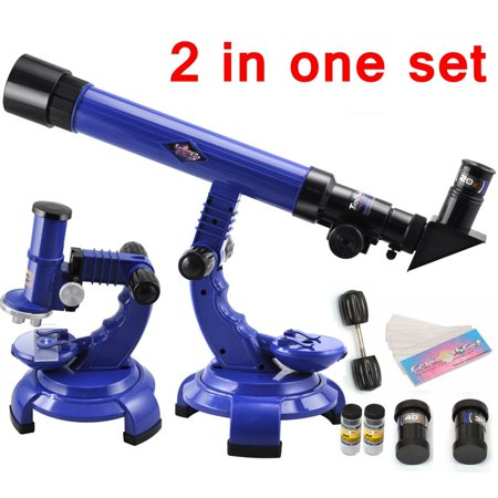 Astronomy Games (Ski Goggles Kids Altazimuth Refractor Telescope Microscope Set Science Nature Educational Astronomy Learning Christmas)