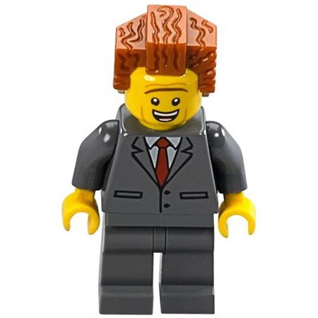 The LEGO Movie Loose President Business Minifigure [Happy Loose]](Happy Halloween Logo 2017)