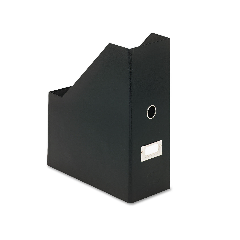 Snap-N-Store Heavy-Duty Fiberboard Magazine File with PVC Laminate, 4 1/2 x 11 x 13, Black -IDESNS01637