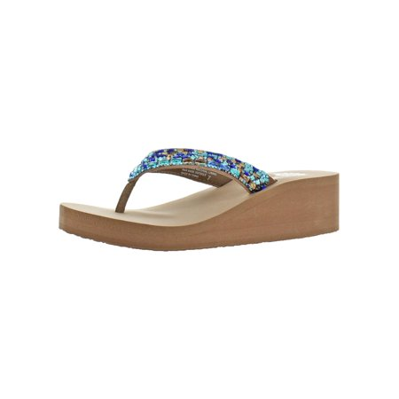 Yellow Box Womens Tinelli Leather Summer Flip-Flops