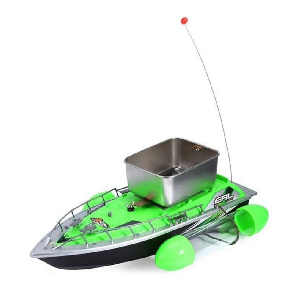 Wireless Remote Control Boat Electric Mini RC Fishing Bait Boat for Outdoor Adventure with US Plug(Green)