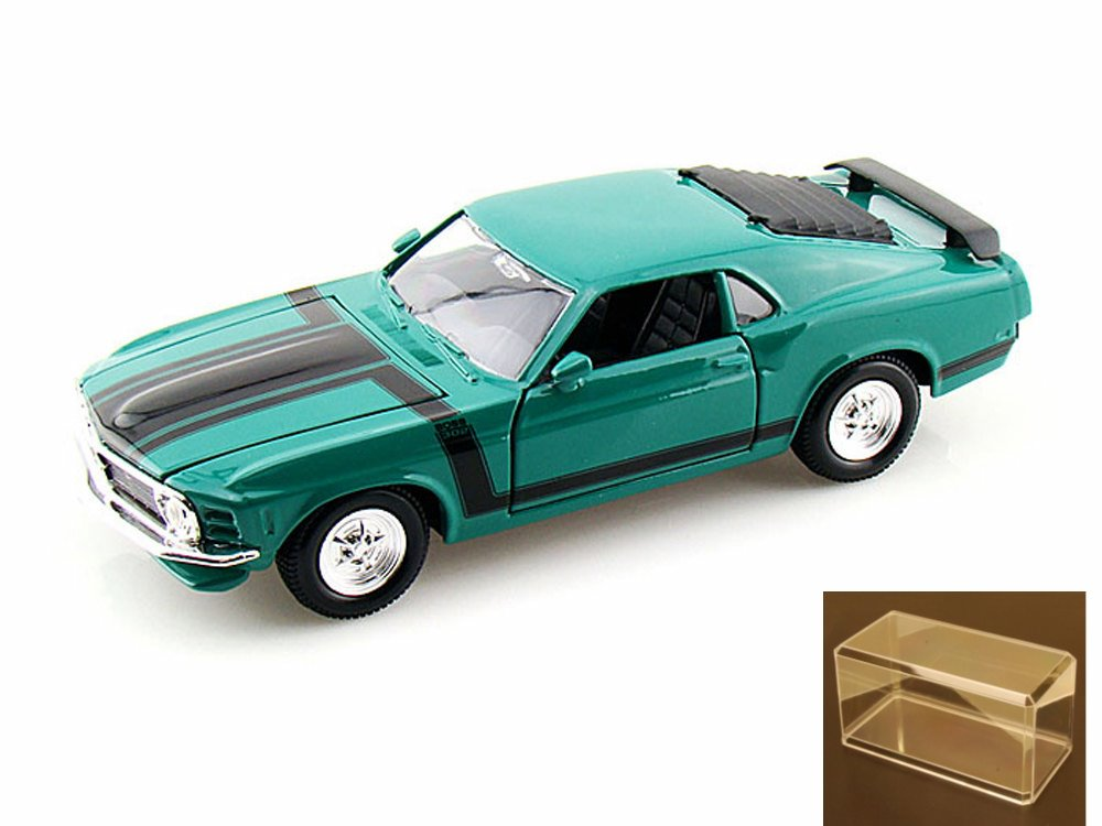 Diecast Car & Accessory Package 1970 Ford Mustang Boss 302, Green Maisto Special Edition... by Maisto