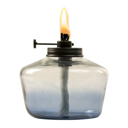 TIKI® Brand 6.25-inch Adjustable Flame Penta Glass Votive Watercolor Blue